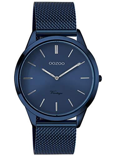 Oozoo Vintage Damenuhr mit Milanaiseband Dark Blue 38 MM Blau C20008
