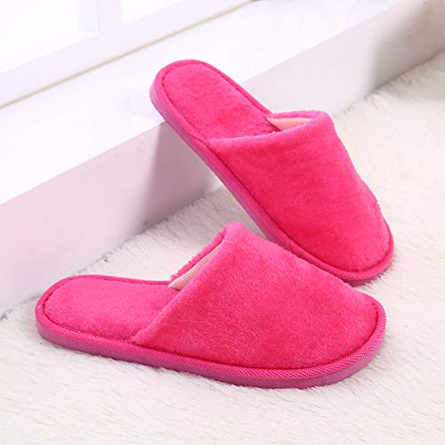 Cotton Slippers Winter Warm Waterproof Slippers Woman Men Indoor Slippers Lovers Home Slipper Thick Sole Femael Shoes 38-39 Indoorrose