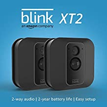Blink XT2 Outdoor/Indoor Smart Security Camera with cloud storage included, 2-way audio, 2-year battery life – 3 camera kit (Used)
