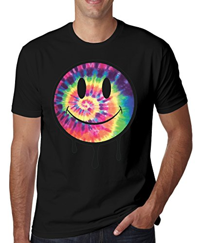 Colorfull psychodelic print heren T-shirt