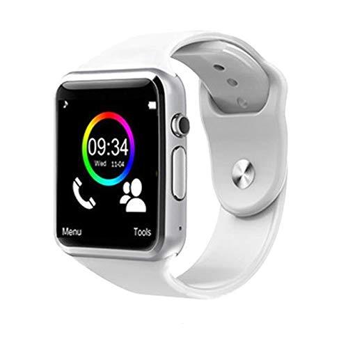 LIHAITAO Smart Horloge Mannen Sport Stappenteller met SIM-Camera Smartwatch voor Android Smartphone Rusland Goed, Kleur: wit