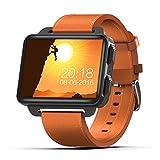Hxl Reloj del teléfono Inteligente Reloj rastreador de Ejercicios con cámara videollamada Rastreo GPS Podómetro Monitorización de la frecuencia cardíaca Correo de información sincrónico Push,Naranja