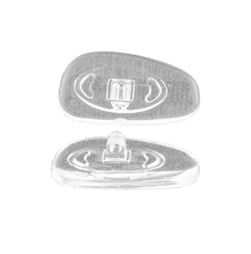 Plaquetas de Recambio para Gafas, de Silicona y Titanio, Varias Formas, tamaños y Materiales (Silicona, para atornillar, clásico)