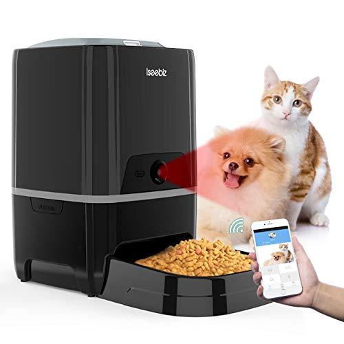 Smart Pet Feeder with Camera, Automatic Cat Feeder APP Remote Control Feeding,...