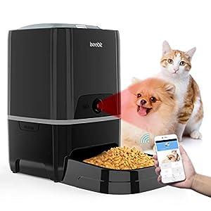 SEISSO Smart Pet Feeder with WiFi, Automatic Cat Feeder Large Capacity Dog Food Dispenser, WiFi Cellphone APP Program Feeding