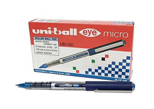 Uni-ball Eye UB150 Tintenroller Micro 0,5 mm Spitze 0,2 mm Strichbreite 12 Stück blau