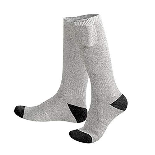 XTBL Beheizbare Socken für Herren Damen haben 3 Stufen Einstellwärmeregler kann Thermosocken Beheizbare Socken beheizbare socken waschbar Heated Socks für Outdoor Motorrad Skifahren Wandern (Grau1)