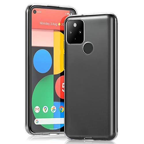 Wonantorna Handyhülle Entwickelt für Google Pixel 5 Hülle, [Anti-Gelb] [Ultra Slim] [Kristallklar] [Stoßfest] [Fallschutz] Weiche Silikon TPU Schutzhülle für Google Pixel 5 - Transparent