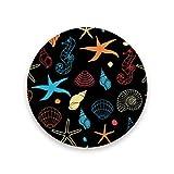 Montoj - Posavasos con diseño de caballito de mar para bebidas, regalo único para amigos, madera, 1, 4 pieces set