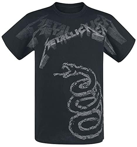 Metallica Black Album Faded Camiseta Negro M