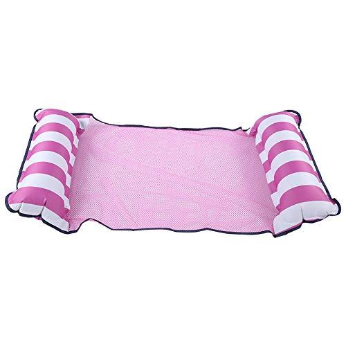 NATRUSS Pool Hängematte, Wasser Stuhl, Wasser Deck Stuhl Dual-Purpose Faltbar für Pool Beach Summer Holiday Party(Pink)