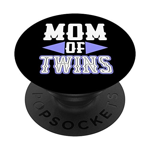 Mamma dei Gemelli Mamma dei Gemelli Divertente Mom Of Twins PopSockets Supporto e Impugnatura per Smartphone e Tablet