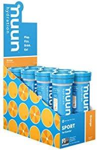 Nuun Sport Electrolyte Drink Tablets Orange 8 Tubes 80 Servings product image