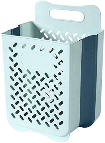 CFPAGF Storage Basket,Wall Hanging Storage Basket Household Plastic Basket, Basket Laundry Basket Foldable Clothes Storage Basket Wall-Mounted Bathroom Clothing Holder