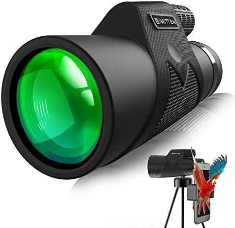 Simitten Monocular Telescope 12X42 Powerful Monocular with Smart Phone Adapter High Power Vision product image