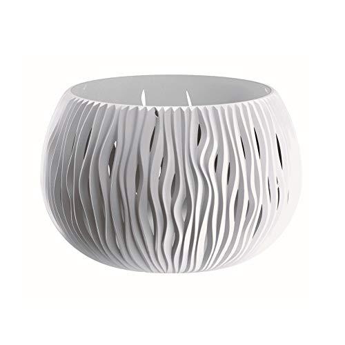 Prosperplast Bowl Sandy de plástico con depósito en Color Blanco, 16,1 (Alto) (Ancho) x 23,8...