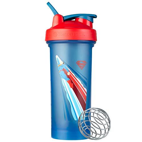 BlenderBottle Justice League Shaker Bottle, Classic V2, Retro Superman