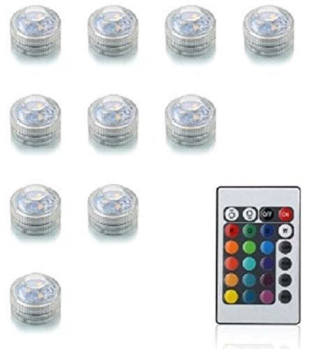 10 LED lampjes met afstandsbediening - warm wit/helder wit/multicolor