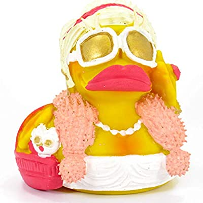 Fashionista Shopper Rubber Duck Bath Toy   All Natural, Organic, Eco Friendly, Squeaker   Imported from Barcelona, Spain