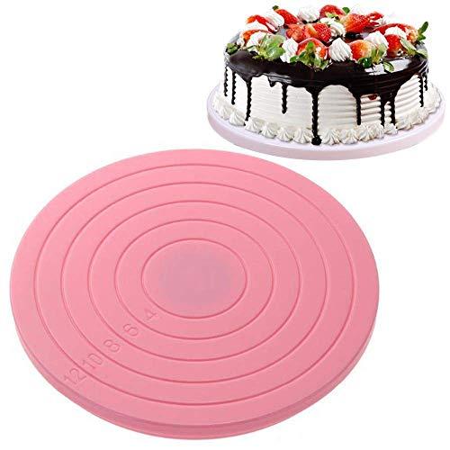 14 cm roterande tårtfat roterande tårtställ baktillbehör för ogräs små snurrande runda tårtplattor halkfri gummi gör-det-själv dekorationsverktyg