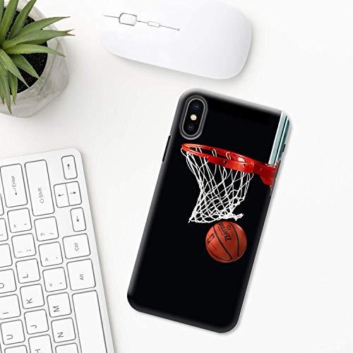 Baloncesto iPhone Funda XR 11 X XS MAX Pro 8 7 Plus 6 6s 5 5s SE 2020 10 Plastico Silicona Apple iPhone Cubierta del Teléfono Regalo Arte remojar equipo Jordán liga pelota amor