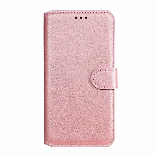für Samsung Galaxy S21 5G Hülle - Samsung Galaxy S21 5G Lederhülle Handytasche Kartensteckplätzen Schutzhülle Magnetverschluss Ständ Vollständiger Schutz Kratzbaum Leder Klappbörse Handyhülle Rosa