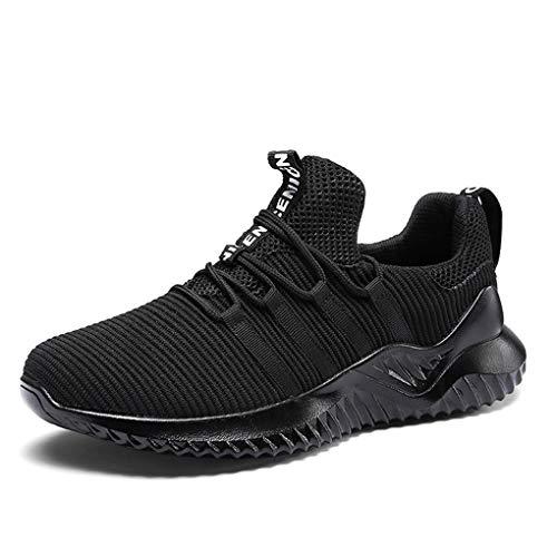 Sneakers für Herren/Skxinn Männer Laufschuhe Wanderhalbschuhe Casual Sportschuhe Leichte Traillaufschuhe Turnschuhe rutschfeste Atmungsaktiv Fashion Freizeitschuhe 39-46 EU Reduziert(Schwarz,43 EU)