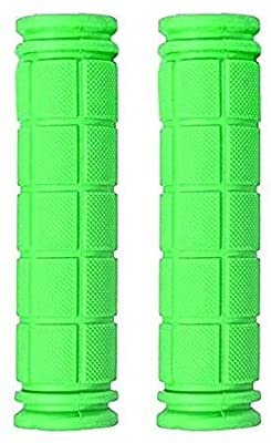 ARJudy Bike Grips - Non Slip Soft Rubber Mountain Bicycle Handlebar BMX Bike Handle Grips (Green)