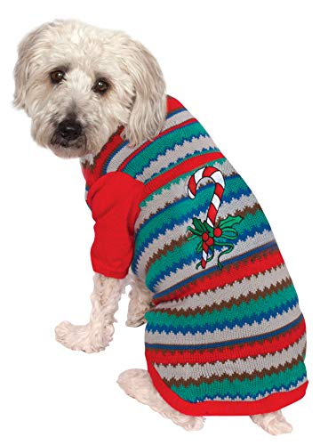 Rubie's Costume 580568-XXXL Co Ugly Sweater With Candy Cane Pet Costume,...
