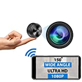 Mini Spy Camera WiFi - 1080P HD - Premium Wireless Hidden Camera with Microphone - Small Nanny Cam with Night Vision, Motion Detection - Portable Tiny Security Surveillance Camera for Home, Business