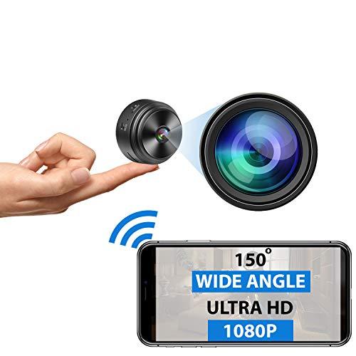 Mini Spy Camera WiFi - 1080P HD - Premium Wireless Hidden Camera with...