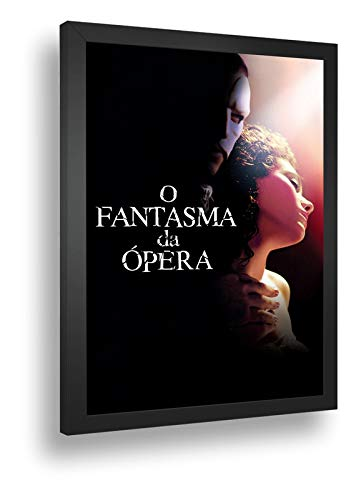Quadro Decorativo Poste O Fantasma Da Opera Mascara Retro