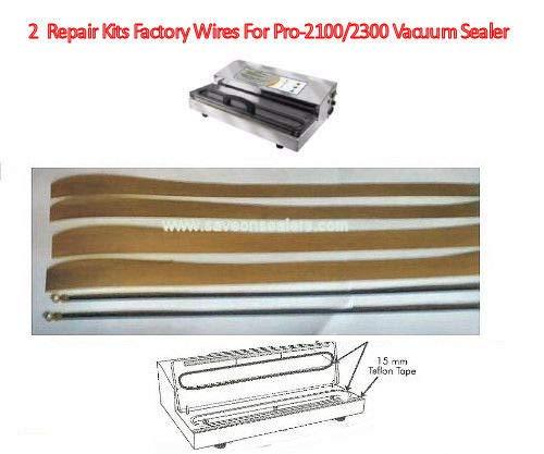 2 Repair Kits for Weston PRO-2300/2100 & Pro-2200-4 Teflon 2 Element (WORK w/Cabella's CG-15 also))