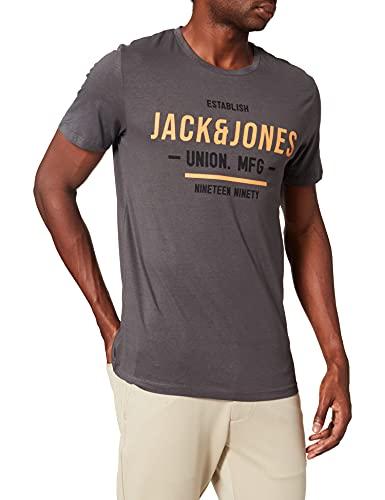 Jack & Jones JJHERRO Tee SS Crew Neck T-Shirt, Gris, XL Homme