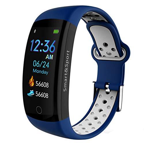 LTLJX Inteligente Pulsera de Actividad,Monitores de Actividad Reloj,Pantalla Pulsómetro Fitness Tracker, Pulsera Smartwatch con 0.96 Pantalla Color con iOS y Android,Azul