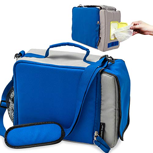 Insulated Lunch Bag for Men Women Work Nurse– Lunch Box Keeps Interior Hot or Cold– Lunch Containers Water Bottle Holder- Wipe Holder for Easy Access to Wet Wipes- PracMedic Bags 12 x 8.5 x 5 In