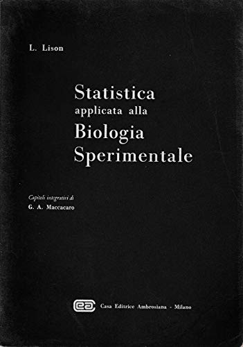Statistica applicata alla biologia sperimentale