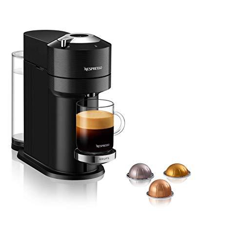Krups XN9108 Nespresso Vertuo Next Premium Kaffeekapselmaschine | 1,7 L Wassertank | Kapselerkennung durch Barcode | 6 Tassengrößen | Power-Off Funktion | aus 54% recyceltem Kunststoff |Classic Black