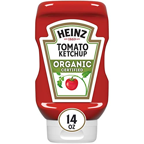 Heinz Organic Tomato Ketchup (14oz Bottles, Pack of 6)