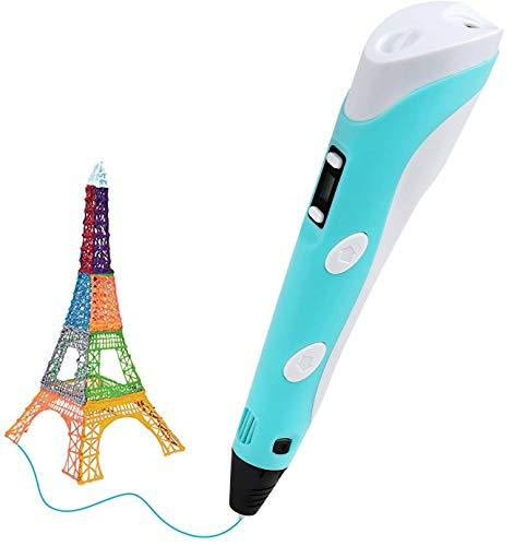 LEADSTAR BelleStyle 3D Penna Stampa, 3D Pen Intelligent 3D Pen Display LED,Compatibile con 1.75mm Filamento PLA/ABS,Filamenti per la Creazione e la Pittura Doodling,Grande Regalo per i Capretti