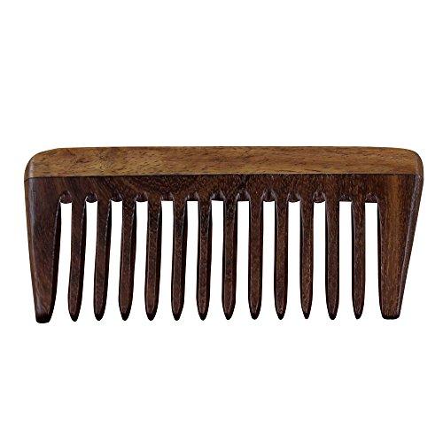 RoyaltyRoute Pettini in palissandro per capelli forti e lucidi, pettine in legno di Sheesham a denti larghi, non statico ed ecologico