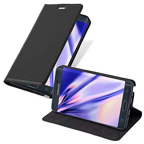 Cadorabo Custodia Libro per Samsung Galaxy Note Edge in Nero di Notte - con Vani di Carte, Funzione Stand e Chiusura Magnetica - Portafoglio Cover Case Wallet Book Etui Protezione