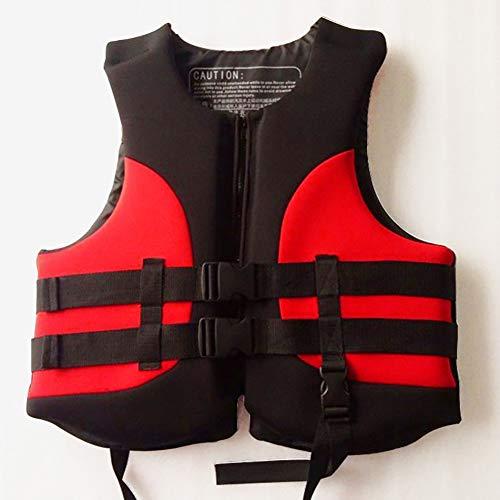 SXZSB Chalecos Salvavidas, Chaleco De Flotabilidad para Adultos, para Natación, Navegación, Pesca, Kayak, Chaleco Salvavidas, Chaleco Salvavidas,Rojo,XL