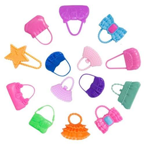 Ropa de fiesta, vestido, vestido, 10 piezas, diseño de muñecas dulces, bolsos de mano, para niñas, niños, fiestas, regalos de cumpleaños