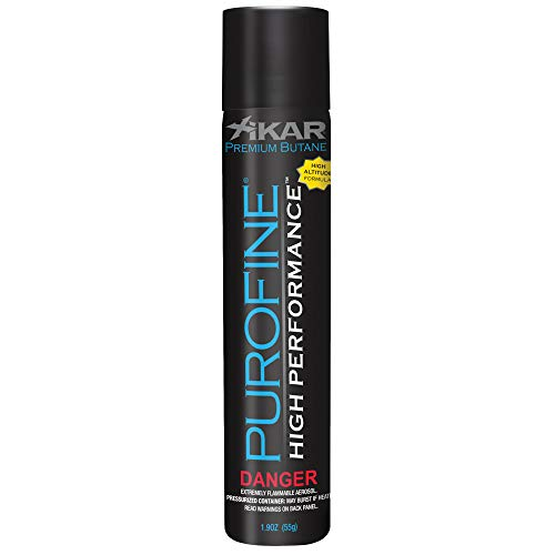 Xikar PUROFINE High Performance Premium Butane Lighter Fuel Refill for Lighters, High Altitude Formula, 1.9oz