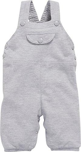 Schnizler Unisex Baby Sweat meliert Latzhose, Grau (Grau/Melange 37), 86