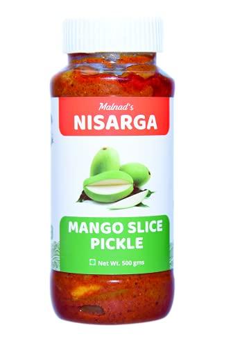 MALNAD'S NISARGA Mango Slice Pickle 500 GMS MAVINA HOLINA UPPINKAYI  ಮಾವಿನ ಹೋಳಿನ ಉಪ್ಪಿನಕಾಯಿ