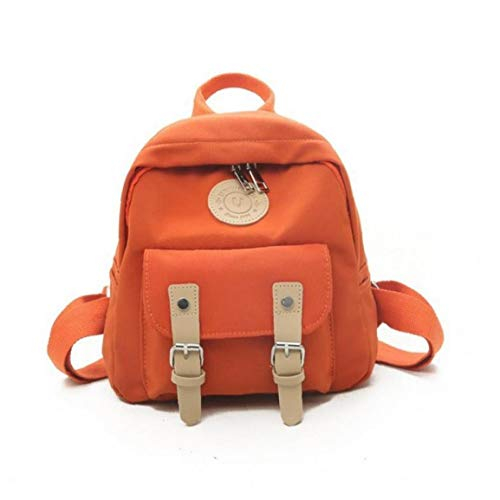 BYFRI Fashion Vrouwen Rugzak Rits Vrouwelijke Rugzakken Kleine Tiener School Tas Dubbele Riem Mini Schoudertassen Oranje