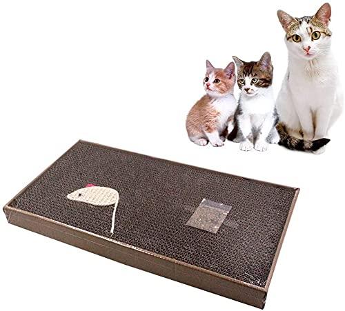 N-K Cat Claw Schärfkarton Cat Scratch Board Cat Bed Trapez Beseitigung von Bewegungsmangel Cat Cardboard Cat Sofa Mausform S/L Cat Supplies Cat Toys Papierabfall Niedrige Dichte Dauerhaft