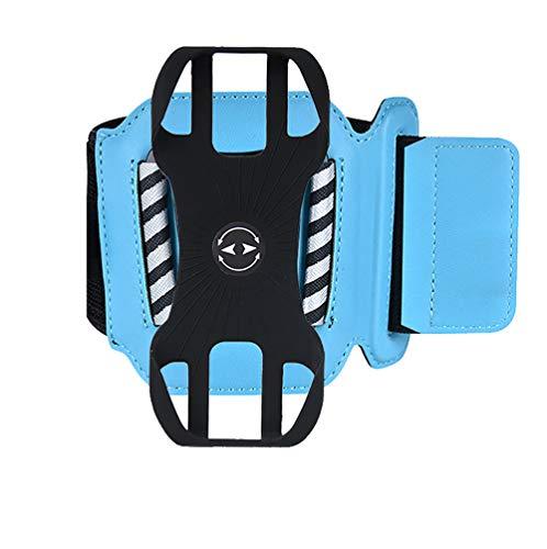 Outdoor Sports Arm Bag, Mobile Phone Armband Elastic Detachable Fitness Running Mobile Phone Cover Armband, Detachable and 360°Rotatable Sports Phone Holder Armband. (Blue)
